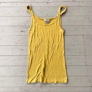 🌿3/$15 lucky brand yellow racerback tank medium